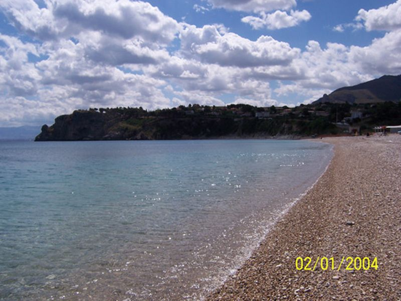 The beach close to Guidaloca Scopello